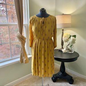 Old Navy Golden Tie Front Midi Dress Size XL